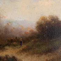 Attr. Cornelis I Westerbeek, Dutch Landscape with Track, Figure & Dwelling (6 of 11)