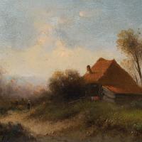 Attr. Cornelis I Westerbeek, Dutch Landscape with Track, Figure & Dwelling (9 of 11)