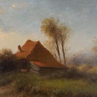 Attr. Cornelis I Westerbeek, Dutch Landscape with Track, Figure & Dwelling (5 of 11)