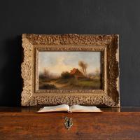 Attr. Cornelis I Westerbeek, Dutch Landscape with Track, Figure & Dwelling (3 of 11)