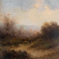 Attr. Cornelis I Westerbeek, Dutch Landscape with Track, Figure & Dwelling (8 of 11)
