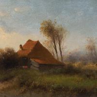 Attr. Cornelis I Westerbeek, Dutch Landscape with Track, Figure & Dwelling (10 of 11)