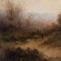 Attr. Cornelis I Westerbeek, Dutch Landscape with Track, Figure & Dwelling (7 of 11)