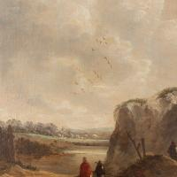 19th Century Dutch School Landscape with Villagers, Oil Painting (7 of 13)