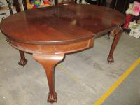 Mahogany Ball & Claw Windout Dining Table
