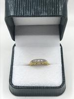 Late Victorian 18ct and Platinum Diamond Ring. (7 of 8)