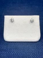 18 ct Old Cut Diamond Earrings. (3 of 5)