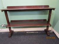 Late Victorian Mahogany 2 Teir Serving Buffet