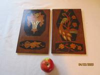 Pair of Edwardian Marquetry Panels