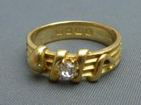 Victorian 18ct Gold & Diamond Snake Ring (3 of 6)