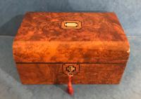 Victorian Burr Walnut Jewellery Box c.1850