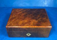 Victorian Burr Walnut Box c.1880