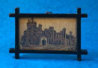 Victorian Tunbridge Ware Mosaic Picture of Eridge Castle