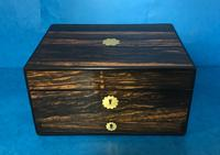 Superb William IV Coromandel Fully Fitted Vanity Box