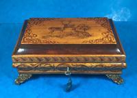 Regency Penwork Sycamore Box