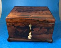 Brazilian Rosewood Twin Canisters & Twin Mixing Mixing Bowl Tea Caddy c.1830 (3 of 19)