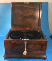 Brazilian Rosewood Twin Canisters & Twin Mixing Mixing Bowl Tea Caddy c.1830 (14 of 19)
