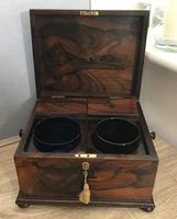 Brazilian Rosewood Twin Canisters & Twin Mixing Mixing Bowl Tea Caddy c.1830 (15 of 19)