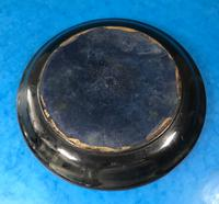 Early Victorian Brass Inlaid Ebony Ink Stand with Cut Glass Ink Well (17 of 19)