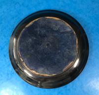 Early Victorian Brass Inlaid Ebony Ink Stand with Cut Glass Ink Well (18 of 19)