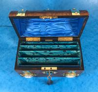 Victorian Burr Walnut Stationary Box with Wedgwood Plaques (10 of 14)