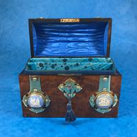 Victorian Burr Walnut Stationary Box with Wedgwood Plaques (9 of 14)