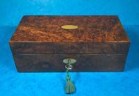 Victorian Burr Walnut Games Box (3 of 16)