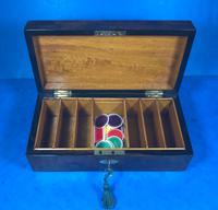 Victorian Burr Walnut Games Box (12 of 16)