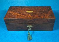 Victorian Burr Walnut Games Box (2 of 16)
