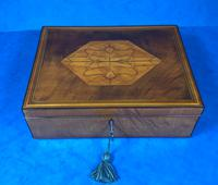 18th Century Applewood Lead Based Lace Box (4 of 12)