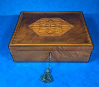 18th Century Applewood Lead Based Lace Box (2 of 12)