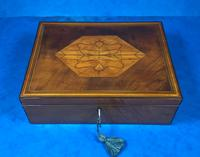 18th Century Applewood Lead Based Lace Box (12 of 12)
