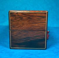 French Victorian Brass Inlaid Rosewood Ink Box (7 of 15)