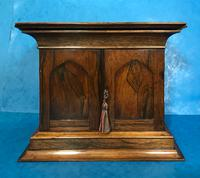Anglo Chinese Solid Rosewood  Jewellery Cabinet (16 of 25)
