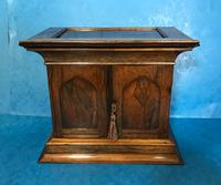 Anglo Chinese Solid Rosewood  Jewellery Cabinet (19 of 25)