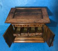 Anglo Chinese Solid Rosewood  Jewellery Cabinet (25 of 25)