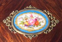 Victorian French Shaped Tulipwood Box with Porcelain Panel to the Top (15 of 15)