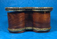 Victorian French Shaped Tulipwood Box with Porcelain Panel to the Top (3 of 15)