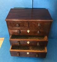 Victorian Mahogany Miniature Chest of Drawers (3 of 13)