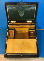 19th Century Superb French Brassbound Mahogany Writing Box (22 of 25)