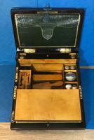19th Century Superb French Brassbound Mahogany Writing Box (23 of 25)