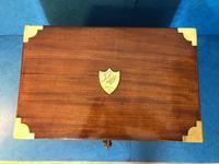 19th Century Superb French Brassbound Mahogany Writing Box (24 of 25)
