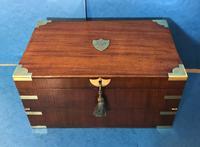 19th Century Superb French Brassbound Mahogany Writing Box (20 of 25)