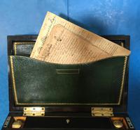 19th Century Superb French Brassbound Mahogany Writing Box (8 of 25)