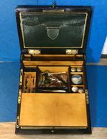 19th Century Superb French Brassbound Mahogany Writing Box (25 of 25)