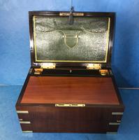 19th Century Superb French Brassbound Mahogany Writing Box (7 of 25)