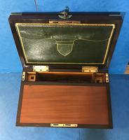 19th Century Superb French Brassbound Mahogany Writing Box (10 of 25)