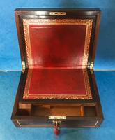 Regency Brass Inlaid Rosewood Writing Slope. (10 of 17)