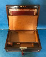 Regency Brass Inlaid Rosewood Writing Slope. (11 of 17)