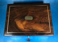 Regency Brass Inlaid Rosewood Writing Slope. (6 of 17)